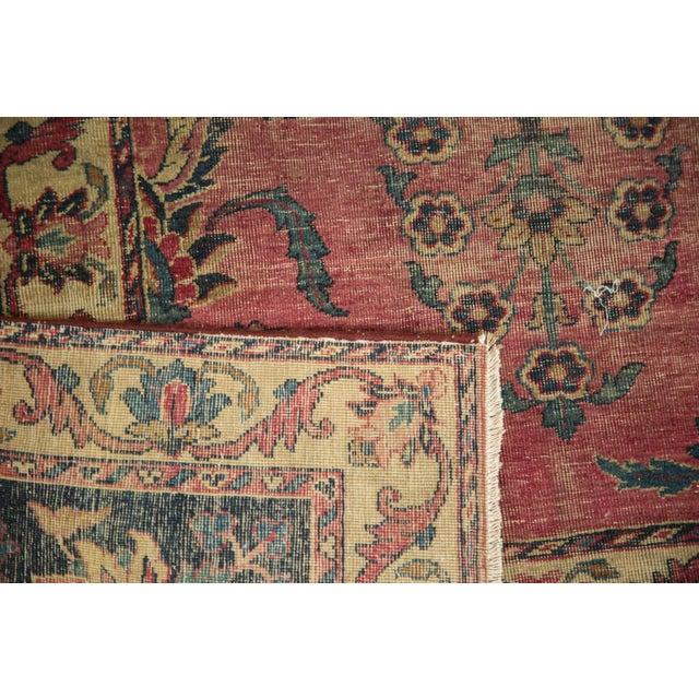 Antique Yazd Carpet - 8' x 10' - Image 8 of 10