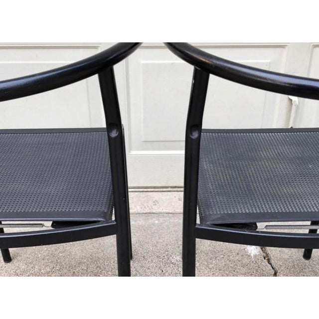 Metal 1980s Vintage Modern Philippe Starck Cafe Chairs- Set of 4 For Sale - Image 7 of 11