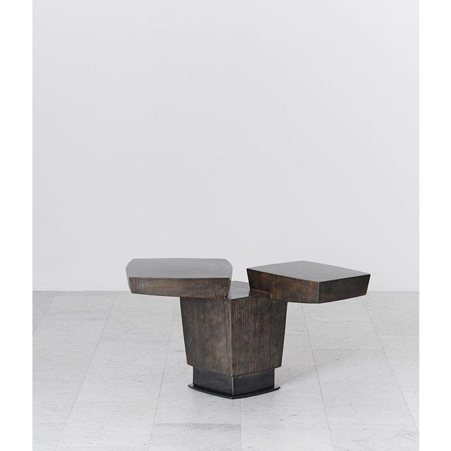 2010s Gary Magakis, Ledges 2 Patined Steel Side Table, USA, 2016 For Sale - Image 5 of 8