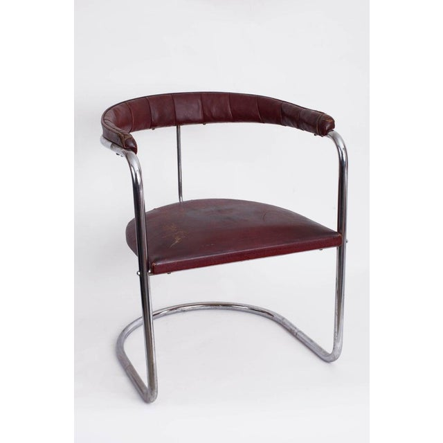 Anton Lorenz (1891–1966) Timeless, early edition Bauhaus Model SS33 cantilevered armchair by Anton Lorenz for Thonet,...