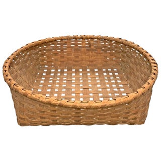 Rather Large 19th Century Split Oak Basket For Sale