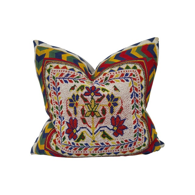 Hand Beaded Rajasthani Pillow For Sale