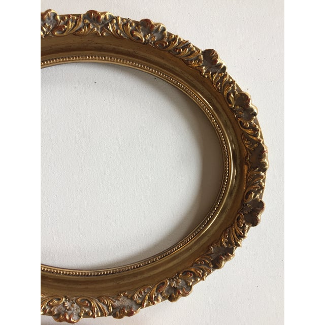 Vintage Oval Gold Wood Frames - A Pair | Chairish