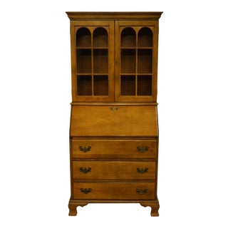 "Heywood Wakefield Colonial Style Maple 32"" Drop-Front Secretary Desk For Sale"