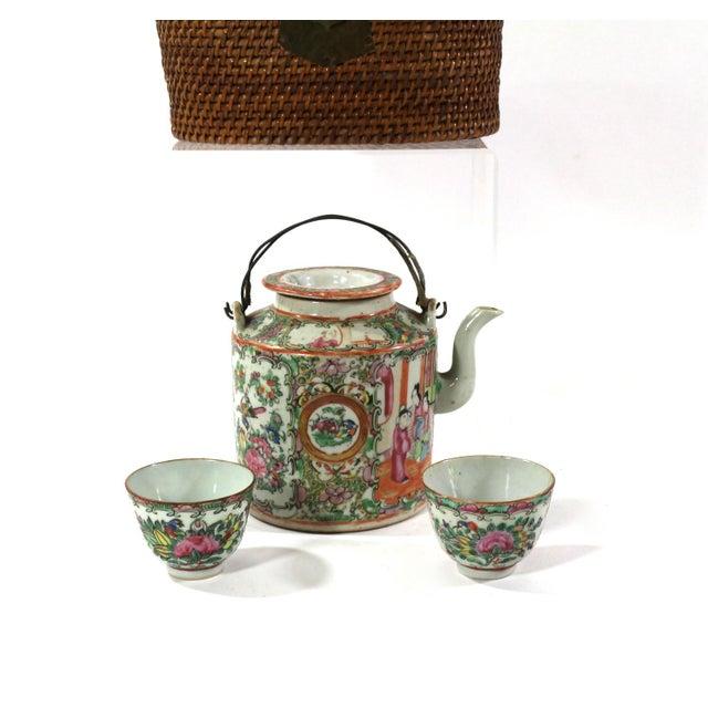 1870s Rose Medallion High Tea Set - Image 7 of 9