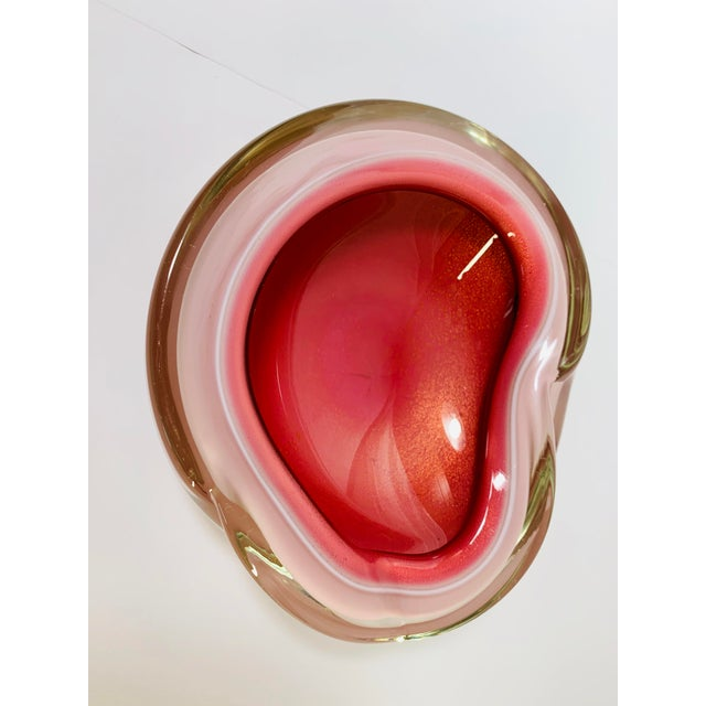 Murano 1950s Seguso Cased Glass Sommerso Geode Bowl For Sale - Image 4 of 10