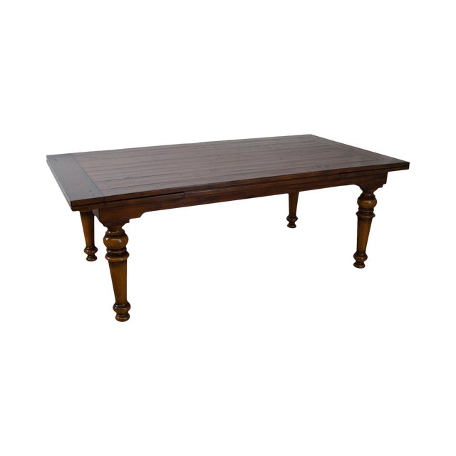 Rustic Farmhouse Style Refractory Dining Table - Image 1 of 10
