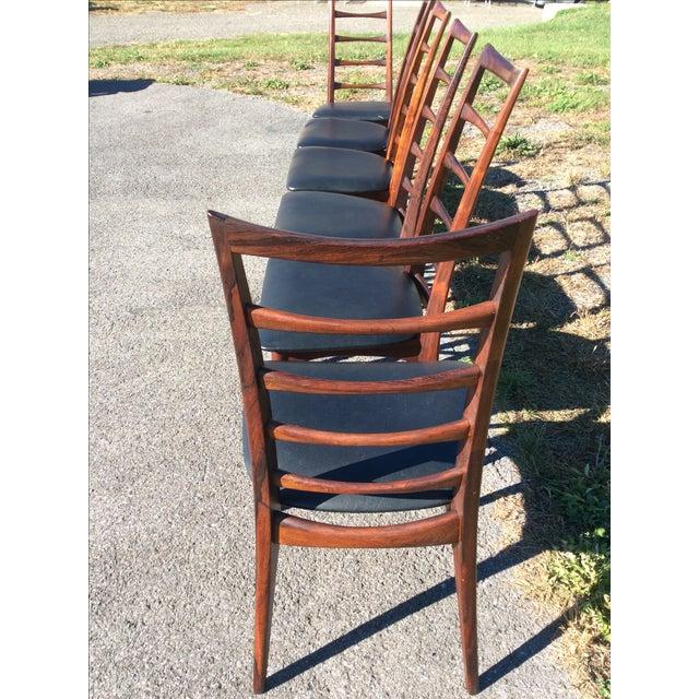 Niels Koefoed Rosewood & Teak Chairs - Set of 6 - Image 10 of 10