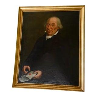 19th Century Valentin-François-Joseph Eudes Portrait Oil Painting in Gilded Frame For Sale