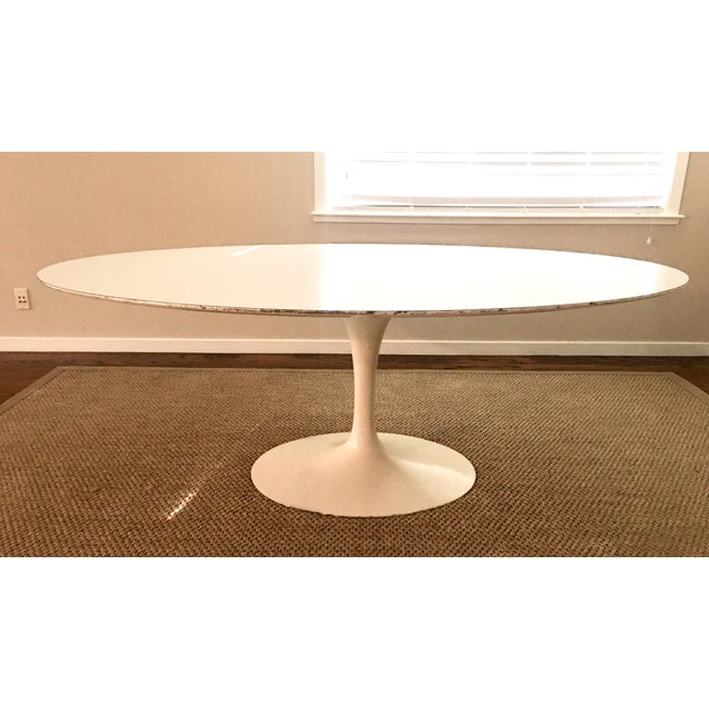 1960's Early Saarinen for Knoll Oval Tulip Dining Table For Sale - Image 9 of 11