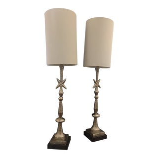 Giacometti Mid-Century Modern Buffet Lamps - a Pair For Sale