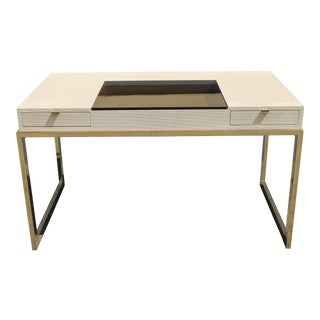 Mid Century Vintage Luxe Milo Baughman Style Writing Desk For Sale