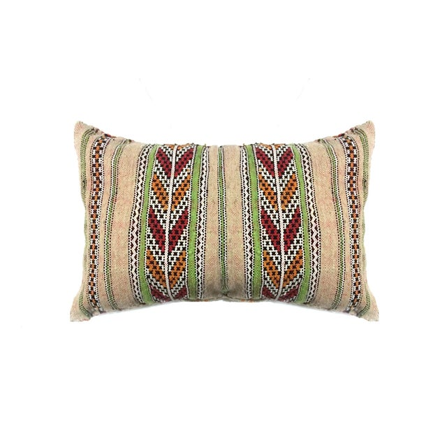 Striped Moroccan Berber Pillow - Image 1 of 3