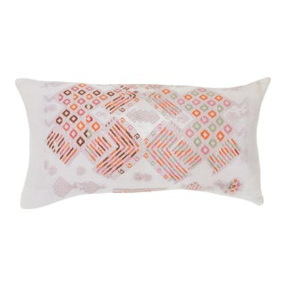 "Pink Vintage Guatemalan Pillow 22 X 13"" For Sale"