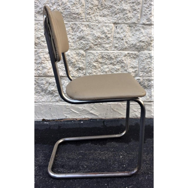 Art Deco Tube Side Chair For Sale - Image 4 of 7