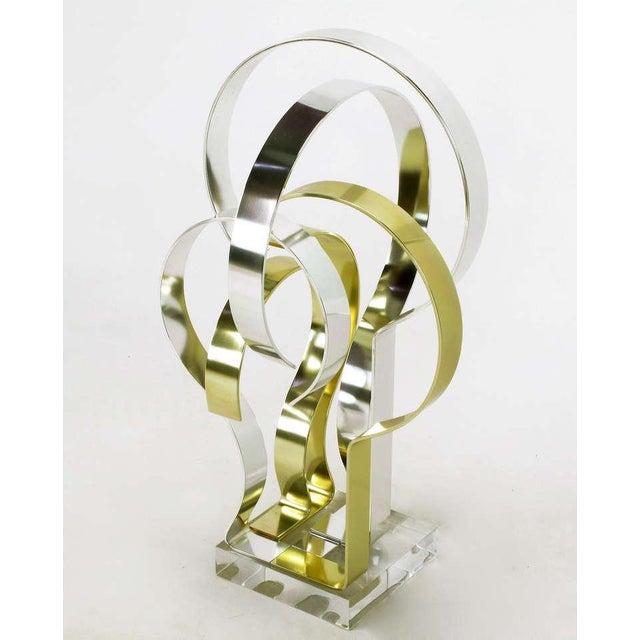 Dan Murphy Dan Murphy (American 20th C) Gold & Clear Anodized Aluminum Sculpture For Sale - Image 4 of 10