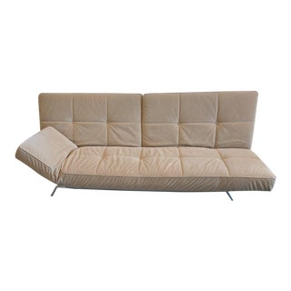 "Ligne Roset ""Smala"" Sofa in Beige Alcantara For Sale"