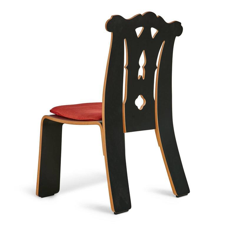 Robert Venturi Chippendale Side Chairs for Knoll International - A Pair - Image 3 of 10  sc 1 st  Chairish & Robert Venturi Chippendale Side Chairs for Knoll International - A ...