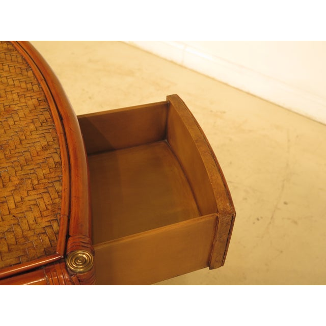 Brown Maitland-Smith Bow Front Woven Leather Chest For Sale - Image 8 of 11
