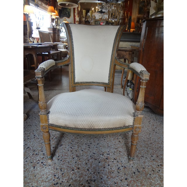 Pair of Directoire Period Fauteuils For Sale - Image 11 of 11