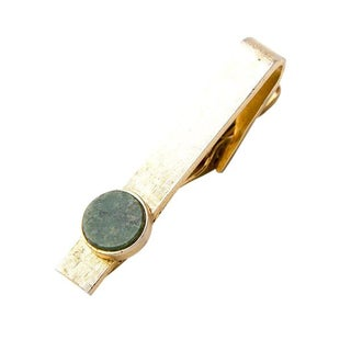 Tie Bar with Jade For Sale