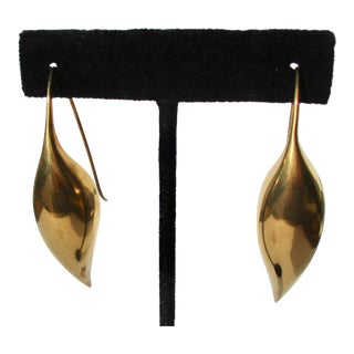 Ted Muehling Silver Gilt Drop Earrings For Sale