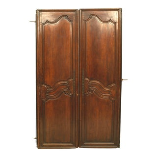 18th Century French Provincial Carved Walnut Doors For Sale