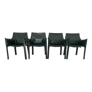 Cassina 413 Cab Chairs - Set of 4 For Sale