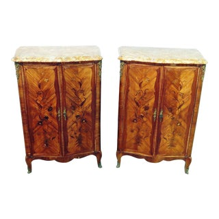 Regency Style Wooden Cabinets - A Pair