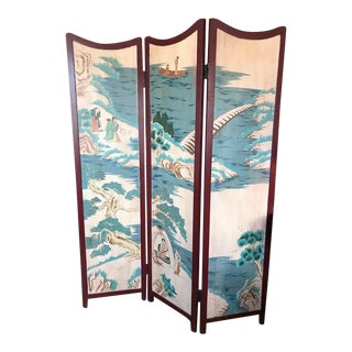 1960s Asian 3-Panel Screen For Sale