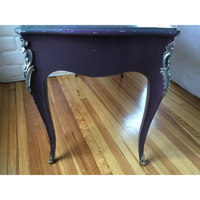 Green Louis XV Style Painted Desk For Sale - Image 8 of 12