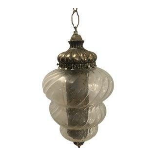 Vintage Hollywood Regency Style Swag Lamp For Sale