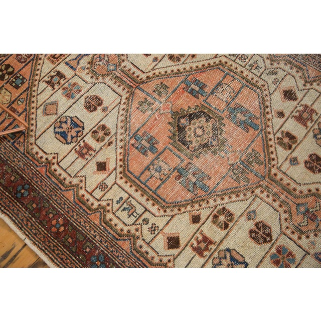 """Vintage Distressed Malayer Rug - 4'4"""" X 6'3"""" For Sale - Image 5 of 12"""