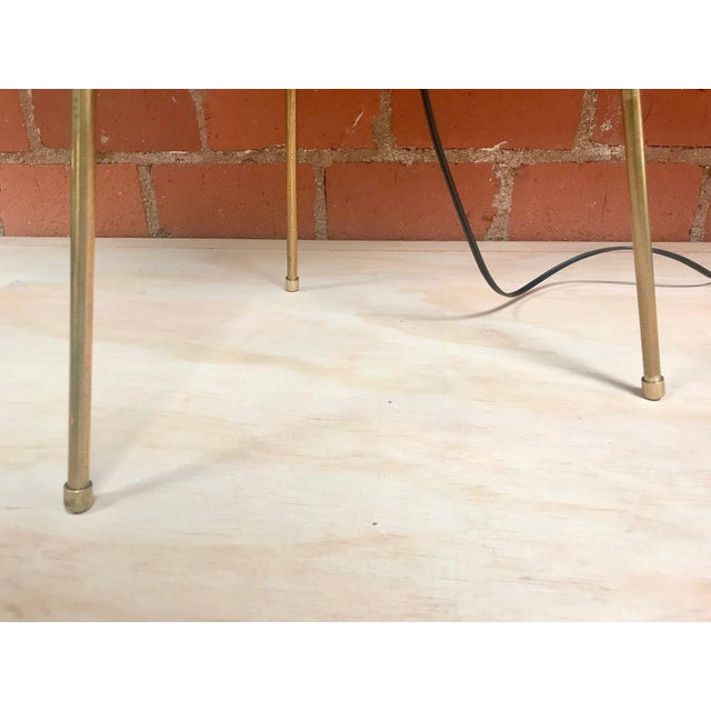 Tripod Floor Lamp in Brass and Milk Glass, Italy, 1960s For Sale - Image 9 of 11