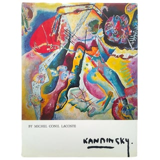 Wassily Kandinsky Rare Vintage 1979 1st Edition Collector's Abstract Lithograph Print Hardcover Modern Art Book For Sale