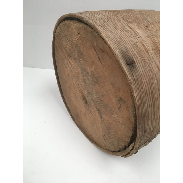 Tan Antique Wood Butter & Cheese Basket For Sale - Image 8 of 10