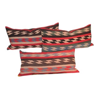 Collection of Three Navajo Indian Weaving Pillows For Sale