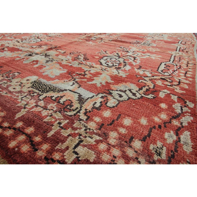Vintage Tribal Antique Turkish Oushak Hand Knotted Rug - 5'1 X 7'5 For Sale - Image 5 of 6