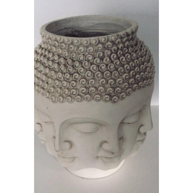 Fornasetti , Dora Maar style, perpetual Buddha Face Sculptural Planter or Vase. Displays dramatically as is. Above the...