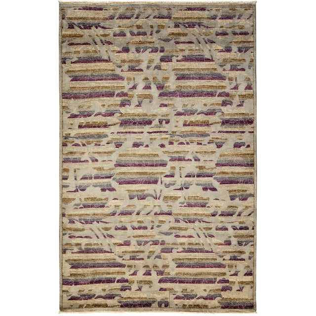 "New Arts & Crafts Hand Knotted Area Rug - 5'2"" x 8'1"" For Sale"