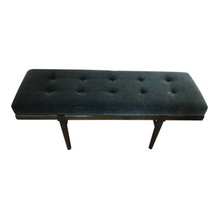 Green Mohair Covered Bench For Sale