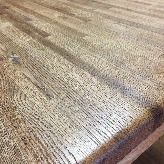 Oak Butcher Block Dining Table - Image 5 of 7