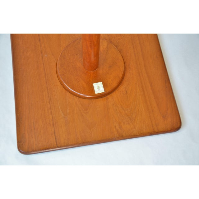 1970s Mid-Century Modern Teak Pedestal Side Table For Sale - Image 9 of 11