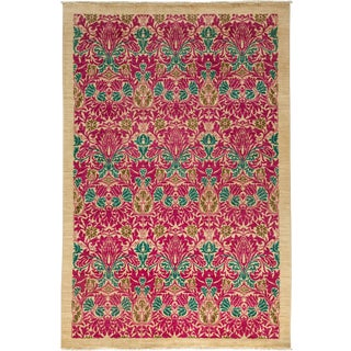 """Arts & Crafts Hand Knotted Area Rug - 6'3"""" X 9'1"""" For Sale"""