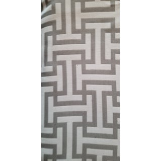 Gray and White Maze Design Modern Designer Fabric For Sale