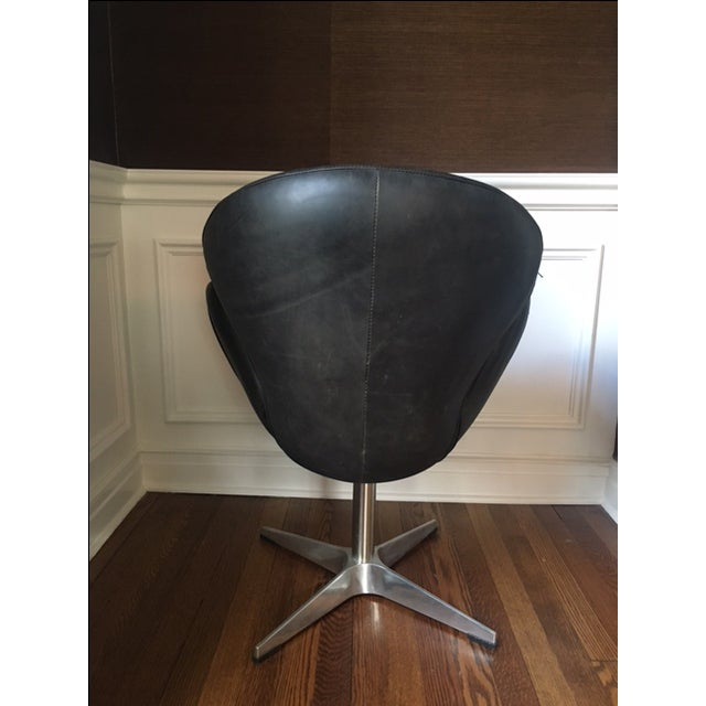 Mid Century Style Leather Chair - Image 5 of 5