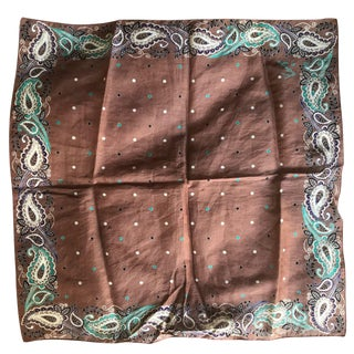 """Kenzo - the Legendary Couture Designer. His Mini Scarves. Printed on Cotton Voile. Italian. Each Holds a Story. Each Collectible 16"""" X 16"""" Squares For Sale"""