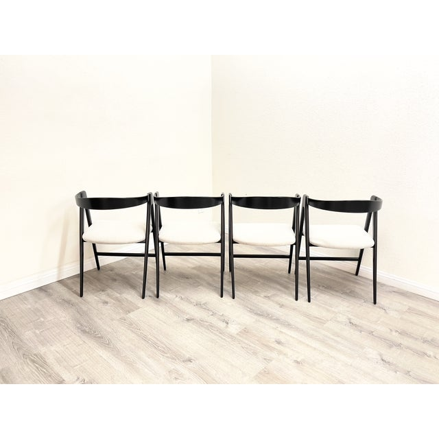 Mid Century Modern Italian Dining Chairs For Sale - Image 4 of 13