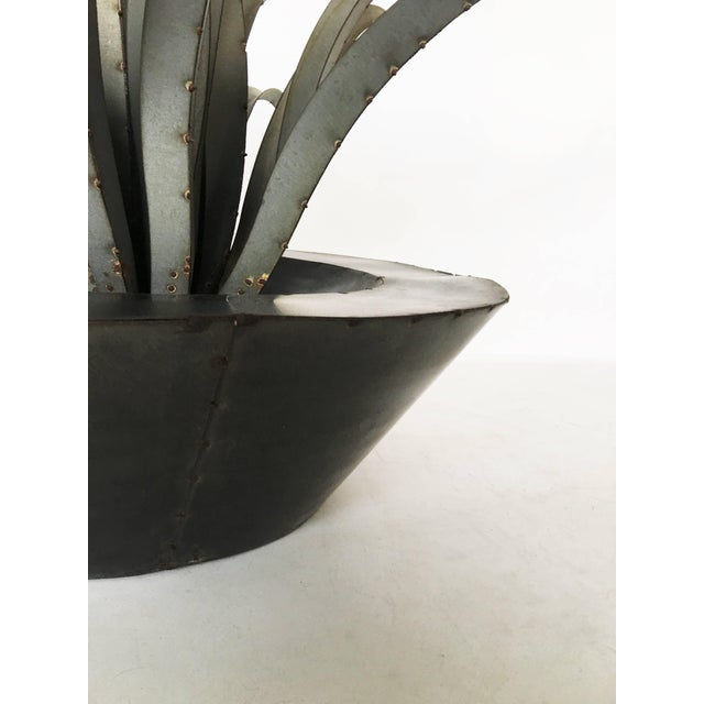 Large Patinated Sculpture of a Plant For Sale - Image 4 of 9