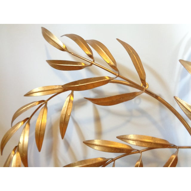 Gilded Italian Frond Wall Sculpture - Image 4 of 5